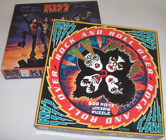 Set of 2 - 1997 KISS Destroyer & Rock and Roll Over Jigsaw Puzzle Boxes (Box only)