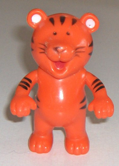 Vintage Arco Industries Ltd Orange Plastic Tiger - Made in Hong Kong