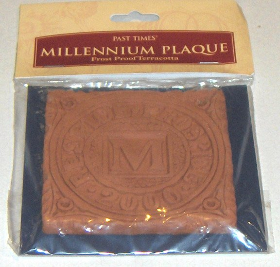 New Millennium Tile 2000 - The Millennium Plaque - Handmade in England