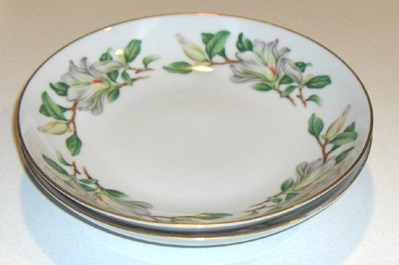 Treasure (WHITE MAGNOLIAS) by Contour China Coupe Soup Bowl - Set of 2
