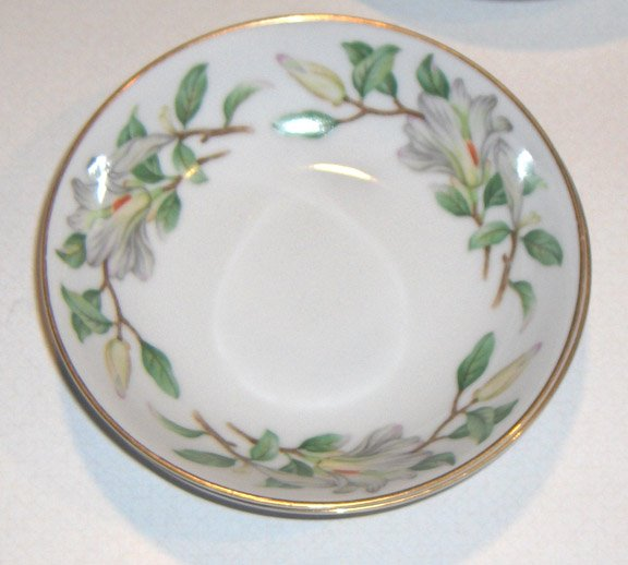 Treasure (WHITE MAGNOLIAS) by Contour China Fruit/Dessert Bowls - Set of 2