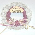 Handcrafted Susan's Kitchen Refrigerator Magnet by Jeane's Things