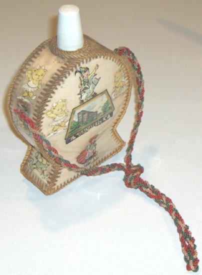 Vintage Child's Canteen Souvenir from Matrahaza and Galyateto, Hungary