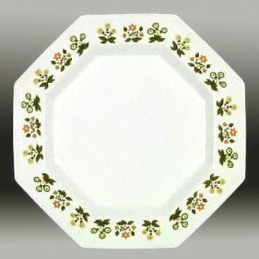 Vintage Johnson Brothers Heritage Posy Bread Plates - Set of 4