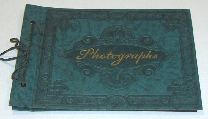 Vintage Embossed Dark Green Photographs Album