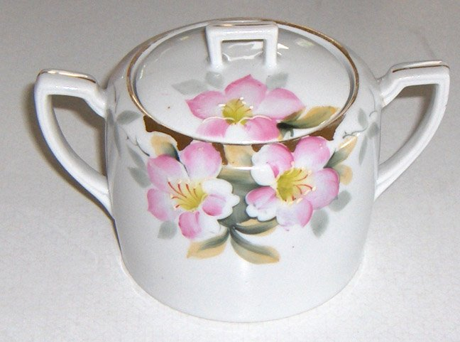 Noritake Azalea Sugar Bowl with Lid