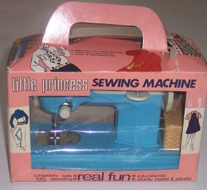 MIB Vintage Little Princess Sewing Machine by Frankonia circa 1960s