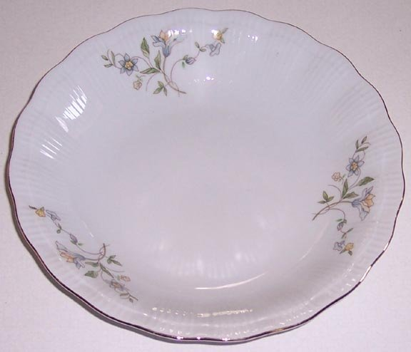 Set of 2 Walbryzch Blue & Yellow Floral Rimmed Soup Bowl - Made in Poland