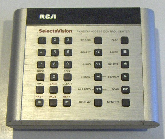 Vintage RCA SelectaVision Random Access Control Center Remote Transmitter for CEDs
