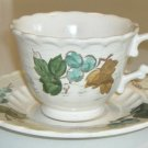 Vintage Metlox Vernon Ware VINEYARD Cup & Saucer