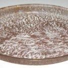 """Vintage Huge Embossed Leaf Gold Pyrex Platter - 18"""""""