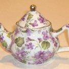 Violet Floral Mini Teapot by A Special Place 2003
