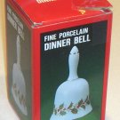 Porcelain Holly Leaf / Berries Dinner Bell - Made in Japan MIB