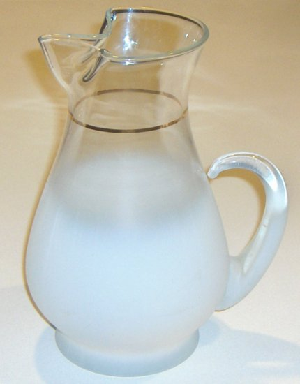 Vintage West Virginia FROSTED White Pitcher - Blendo
