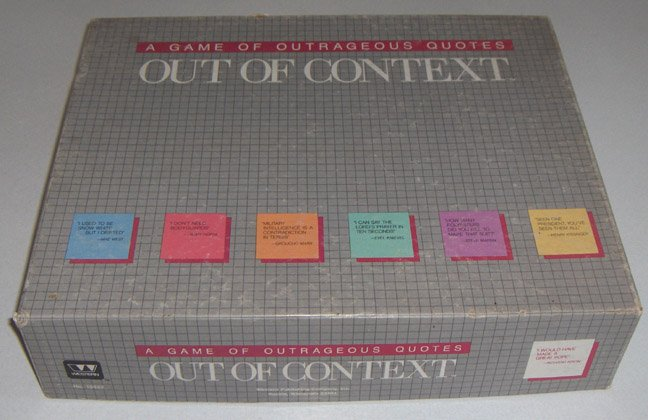 Vintage 1985 Western Publishing Out of Context Board Game