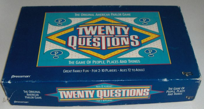 1988 Twenty Question Game by Pressman University Games