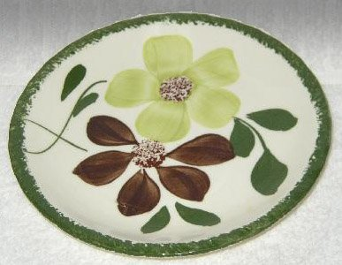 Vintage Blue Ridge Pottery Green Briar Bread & Butter Plate