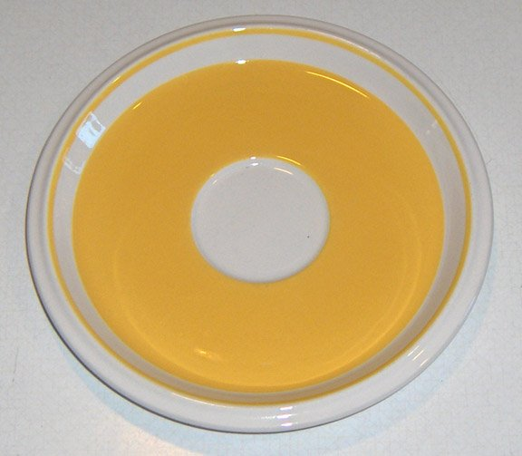 Vintage Mikasa Light N Lively Yellow Saucers - Set of 4