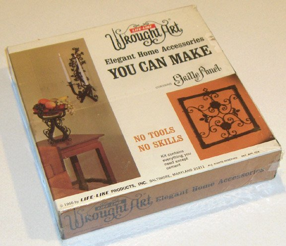 Vintage Life-Like Wrought Art Grille Panel Kit 1966 NIB MIB