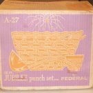 Vintage Federal Glass Jubilee Punch Set - 26 Piece in Original Box