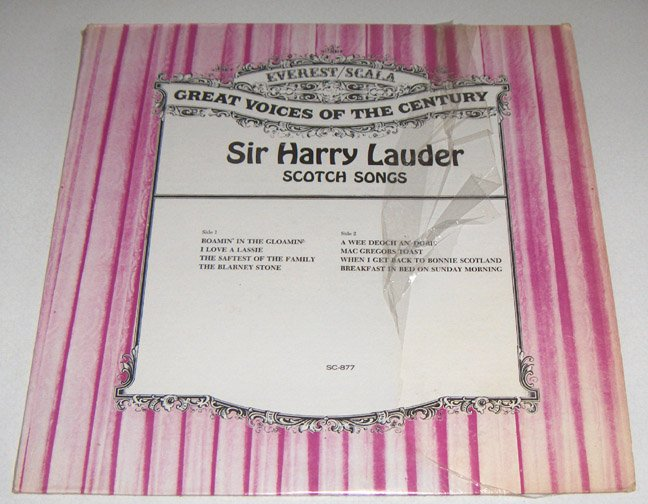 Harry Lauder SCOTCH SONGS Vol. I & II - Everest/Scala LP SC-877, SC-883