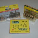 HO Scale Train Figures - Atlas Unpainted Figures, Noch Cemetery Plots & Life-Like Hogs NIP Set of 3