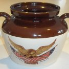 Vintage McCoy Pottery Spirit of 76 Bean Pot (no lid)