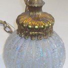 Retro Iridescent Glass Double Light Hanging Lamp circa 1960s