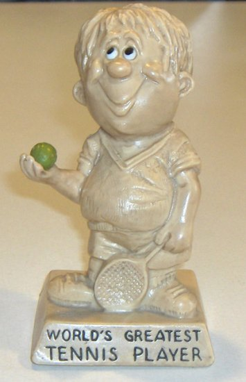 "Vintage W & R Berries Co. ""World's Greatest Tennis Player"" Figurine 1973"