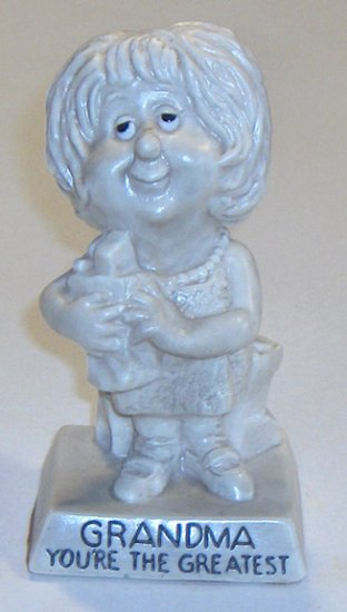 "Vintage W & R Berries Co. ""Grandma You're the Greatest"" Figurine 1973"
