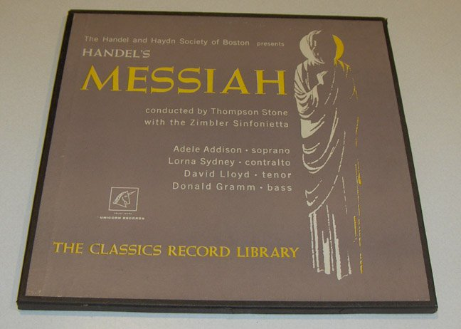 Vintage Classics Record Library - Handel's Messiah Boxed Record Set 1960s