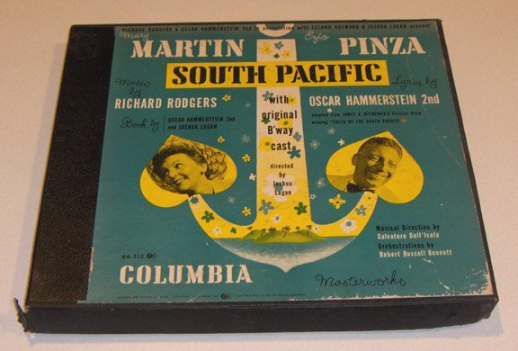 Vintage Martin Pinza SOUTH PACIFIC Rogers & Hammerstein 78RPM 1949
