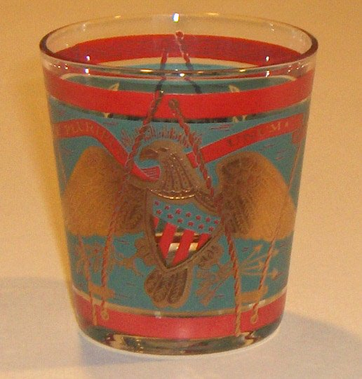 Vintage E Pluribus Unum Eagle, Shield, Drum Glass