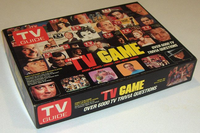 1984 TV GUIDE'S TV Game Trivia Boardgame MIB