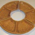 Vintage Maddux of California Ceramic Lazy Susan / Relish Dishes - Set of 3