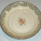 Vintage Paden City PCP182 Gold / Floral Center Coupe Soup Bowl plus Round Vegetable Bowl