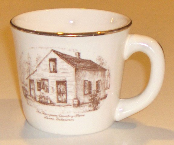 Vintage Thompson Country Store Lewes DE Mug - Lucille S. Piper Memory Plates