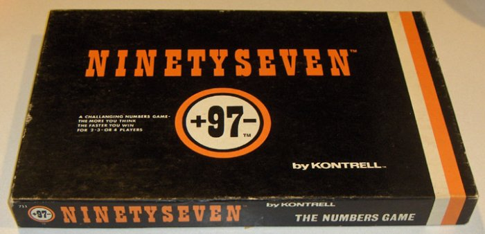 Vintage Ninetyseven Game by Kontrell circa 1971