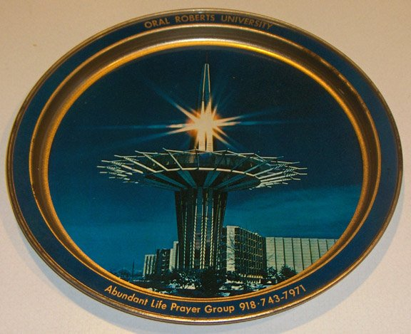 Oral Roberts University Prayer Tower Metal Souvenir Tray