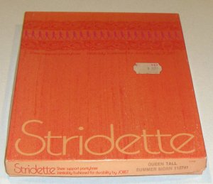 Vintage Stridette by Jobst Sheer Support Pantyhose - Queen Tall - 1981