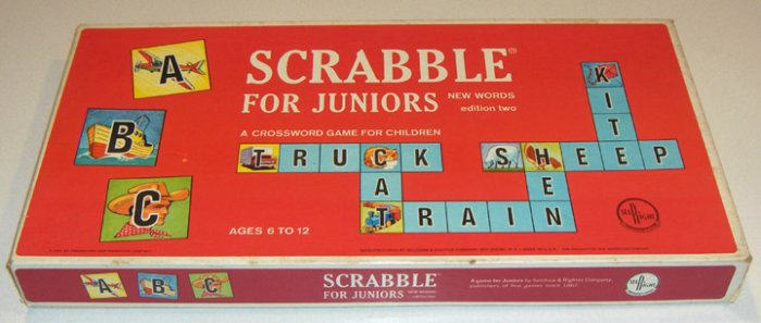 Vintage Scrabble for Juniors Edition Two 1964 by Selchow & Righter