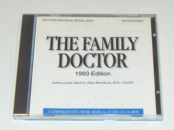 Vintage Software - 1993 THE FAMILY DOCTOR CD Creative Multimedia