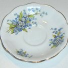 Royal Standard Bone China Blue Floral Forget-me-nots Scalloped Saucer
