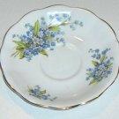 Royal Standard Bone China Blue Floral Forget-me-nots Scalloped Saucer