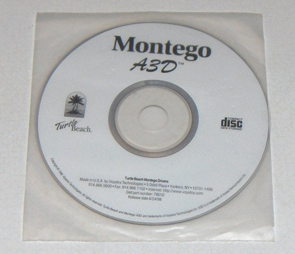 Vintage Software - 1998 Montego A3D Drivers for Dell by Voyetra Technologies Dell OEM