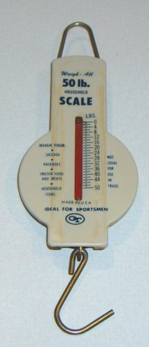 Vintage 50# Weigh All Household Scale by OT