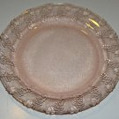 Pink Clear Glass Textured Grapes Dinnerplates - KIG Indonesia Set of 4