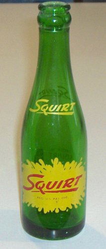Vintage Squirt Soda 7 oz. Bottle - Set of 2