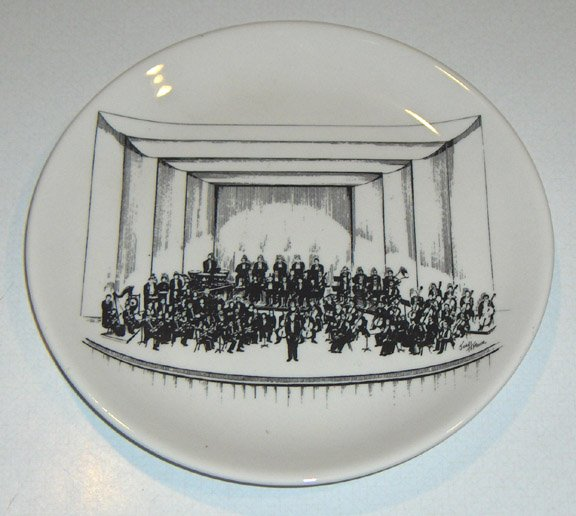 1983 Buffalo Philharmonic Orchestra 33rd Annual Ball Commemorative Plate - Limited Ed. Buffalo China