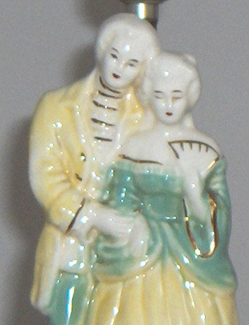 Vintage George & Martha Washington Colonial Couple Lamp (base only)